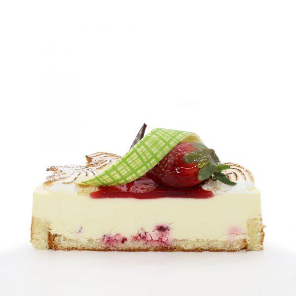 Brunetti Mixed Berry Charlotte Cake - Cross section