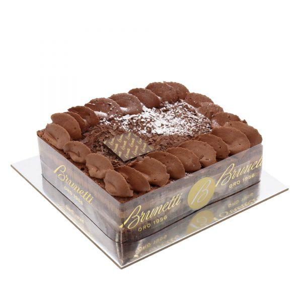 Brunetti Chocolate Souffle Cake - Side