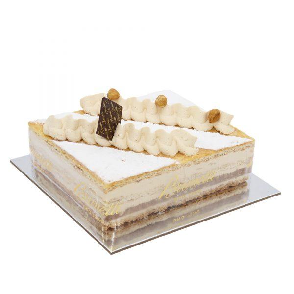 Brunetti Hazelnut Millefoglie Cake - Side