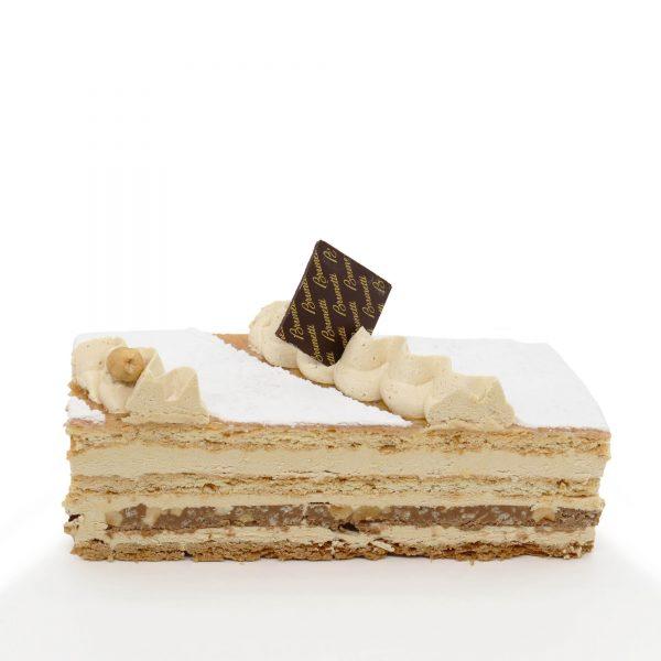 Brunetti Hazelnut Millefoglie Cake - Cross section