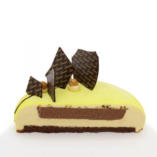 Brunetti Hazelnut & Zabaglione Torte Cake - Cross section
