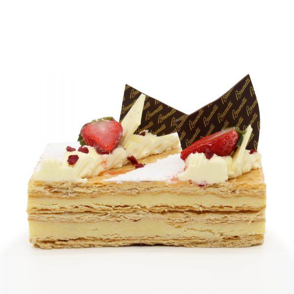 Brunetti Millefoglie Cake - Cross section